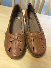 Clarks Collection 39 Womens Evianna Peal Tan loafers Women's 8 M Shoes