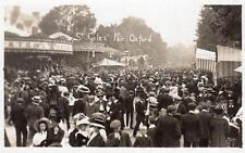 St Giles Fair Oxford Fairground RP pc used 1910