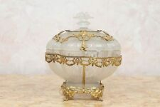 French Ormolu Mounted Glass Covered Candy Dish Lot 77