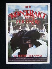 Filmplakatkarte cinema   Der Kontrakt des Zeichners    Anthony Higgins