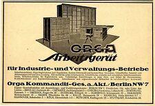 ORGA Arbeitsgeräte Büromöbel System Grünewald Berlin NW Historische Annonce 1923
