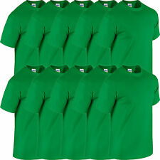 10 Pack Mens GILDAN T shirt Workwear Wholesale Bulk Job Lot Tshirt Top NEW Tees