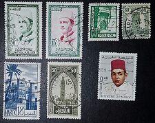 Sellos de Marruecos Mezclados seleccionado (No1168)