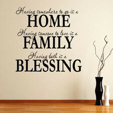 Removable Family Blessing DIY Wall Sticker Art Vinyl Quote Decal Home Room Decor