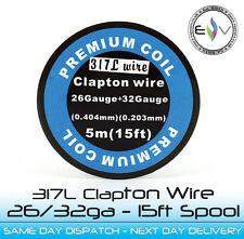 317L (SS) Clapton Coil Wire 26/32ga. Excellent for temp sensing devices!