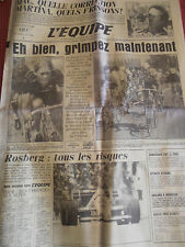 JOURNAL L'EQUIPE TOUR DE FRANCE FIGNON / HINAULT / KELLY / VANDERAEDEN 1984 (A)