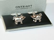 Mens Novelty Cufflinks - PIG with Curly Tail Design - *Boxed* New