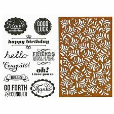 Hampton Art Clear Stamps & Stencil, Friends are the Best Medicine, Sisters