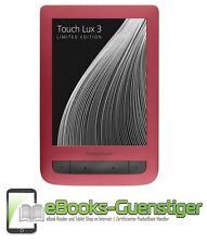 PocketBook Touch Lux 3 - Ebook Reader - Ruby Red - Blitzlieferung