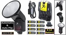 Auto Flash w/Flip Diffusor + 8AA Battery For Nikon D1 D1H D1X D100 D200 D3S D3X