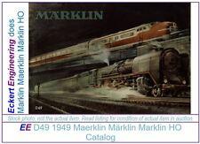 EE 1949 Marklin Catalog D49 E $ in Good Condition
