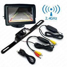 "Wireless Infrared Car License Plate Reversing Camera 4.3"" LCD Display Screen Kit"