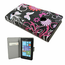 PU Leather Wallet Soft Rubber Pocket Case Cover Stand For Nokia Lumia 520