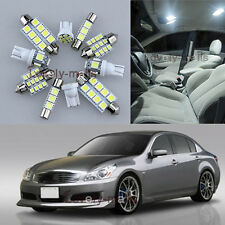 NEW White Car Light Interior LED Package 11x for Infiniti G35 G37 Sedan 07-13 L8