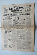 ANCIEN JOURNAL -  LE CANARD ENCHAINE N° 1402 DU  3 SEPTEMBRE 1947 *