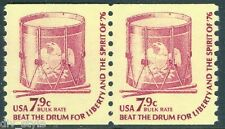 Drum for Liberty 7.9¢ mnh coil pair USA #1615 dull gum 1976 bulk rate