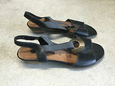 Remonte Womens Low Heels Black Leather Size EU 37 US 6.5-7