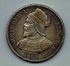 "Panama 1905 50 Centavos "" Dollar Sized "" Crown Km # 5 Scarce 2 Year Type Coin"