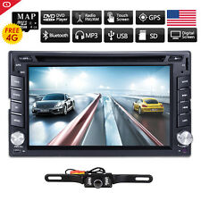 GPS Double 2 Din 6.2'' In-Dash Car DVD Player Radio Stereo Bluetooth iPod+Camera
