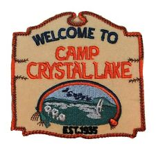 "Friday the 13th Movie Camp Crystal Lake Logo 3"" PATCH"