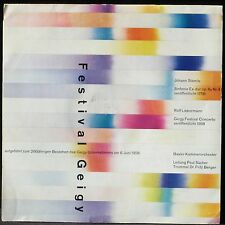 Festival Geigy 1958 Rolf Liebermann Johann Stamitz Paul Sacher LP VG++ & CV EX