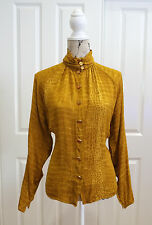 Vintage Ungaro 1980s Blouse / shirt, Ungaro Parallele, French Designer, UNIQUE