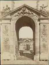 Neurdein Frères, France. Chantilly (Oise), Portail du Château  Vintage albumen p