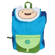 Adventure Time Finn Backpack Cartoon Network Kids Adjustable Book Bag Blue