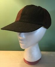Banana Republic Vintage Wool Blend Baseball Cap Hat Black & Brown Color Block