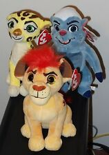"2016 Ty Beanie Babies Lion Guard Set of 3 KION-BUNGA-FULI the Lion 6"" ~ NEW"