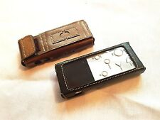 NEW Handmade Leather Case for mp3 player XDUOO X3 with SD Card Pocket Black