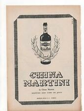 Pubblicità vintage CHINA MARTINI LIQUORE WINE ITALY old advert werbung publicitè