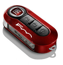 METALLIC RED KEY COVER FIAT 500 BRAND NEW GENUINE FIAT ACCESSORY