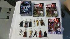 16 Pieces  Star Wars Toys 11 key chain 2 Hassk Thug 1 Trooper Metal Wader Card
