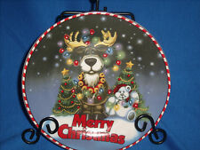 "**CLEARANCE** Forever Beautiful~MERRY CHRISTMAS~Moose~8"" Cookie Plate(B1-10)"