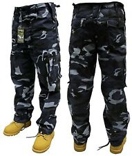 ARMY COMBAT TROUSERS MIDNIGHT CAMO 44'' FREE POSTAGE!