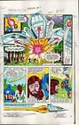 1983 Captain America Annual 7 page 10 Marvel Comics color guide art: 1980's