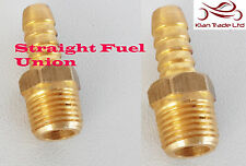 2 X FACET brass union fuel hose fitting 1/8 nptf, 6mm outlet AIR FUEL OIL -M81