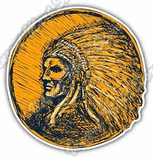 Indian Chief Head Apache Native Gift Idea Car Bumper Vinyl Sticker Decal 4.6""