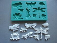 Silicone Mould FROGS AND BUGS Sugarcraft Cake Decorating Fondant / fimo mold