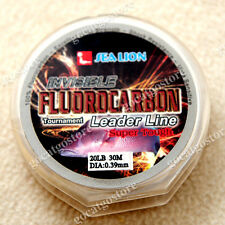 NEW Sea Lion 100% Made in Japan Fluorocarbon Leader Fishing Line 20LB 30M