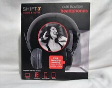 Shift 3 Black Noise Isolation Headphones Home & Auto VERY GOOD CONDITION W/BOX