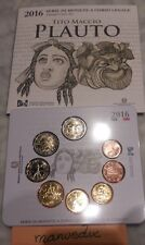 manueduc  ITALIA  2016   CARTERA  OFICIAL FDC 9 Coins  Con 2 EUROS PLAUTO  UNC