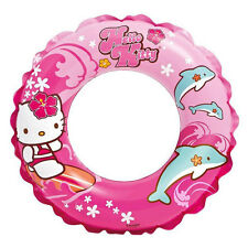 "Intex HELLO KITTY Kids Girls INFLATABLE 20"" SWIMMING RING TUBE Pool Float Sanrio"