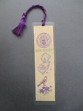 BOOKMARK Vintage Ribbon Woven NEW JERSEY the Garden state USA Weve A Gift OLD