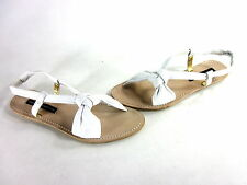 FRENCH CONNECTION WOMEN'S PATUNIA TUBE SLING SANDALS WHITE EUR SIZE 40 M IMPORT
