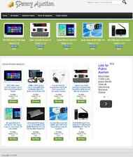 PROFESSIONAL PAY PER BID AUCTION WEBSITE FOR SALE! with LISTINGS and DROPSHIPPER