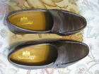 STAFFORD MEN'S LOAFER / SLIP ON SHOES 10 1/2 M BROWN LEATHER w TOP BRAID NO BOX
