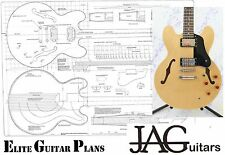 Luthiers Construction Plans for Gibson ES 335 guitar