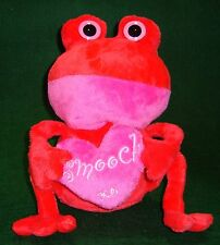 Plush Fat Red Frog w/ Pink Smooch Heart Poly Fiber Plastic Pellets Age 4+   1068